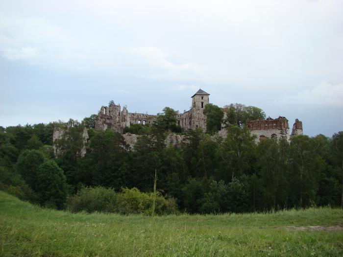 Zamek Tęczyńskich w pełnej krasie.