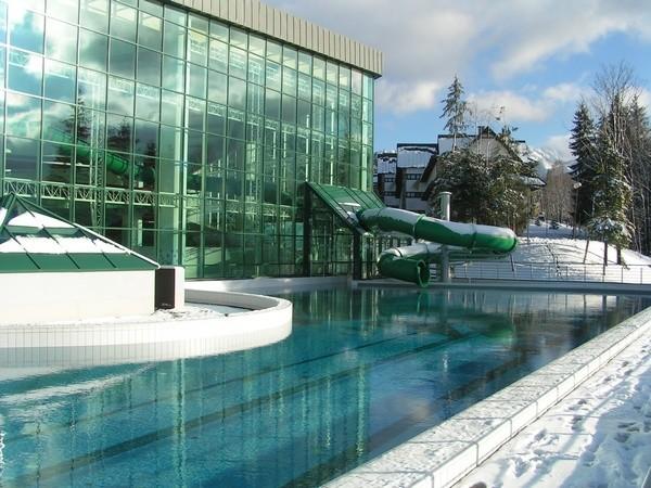 Aqua Park Zakopane, odkryty basen zimą