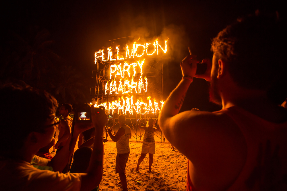 Full Moon Party na wyspie Koh Phangan